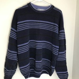 Vintage 90's Dad Stripped Chunky Sweater